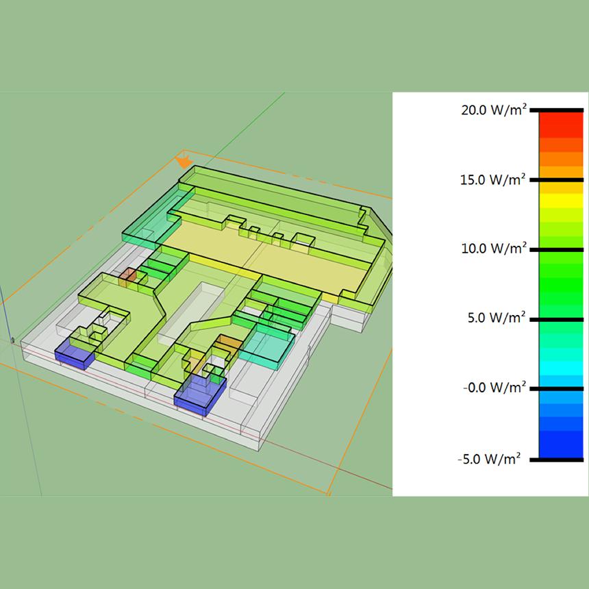 Ansicht einer Grafik der Gebäudesimulation für die Mall in Kiew